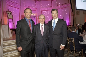 Left to right: Robert F. Kennedy Jr., Mayor Bloomberg, Louis Bacon