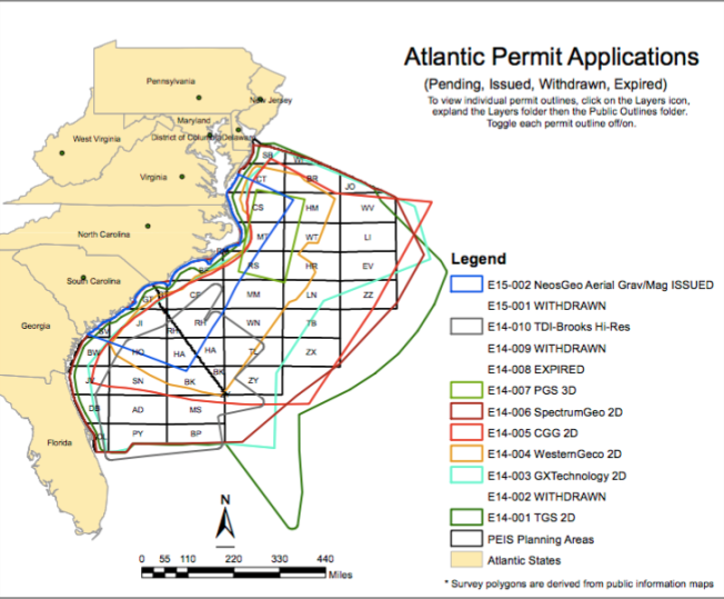 Proposed Area for Seismic Testing